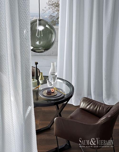 Fensterdekoration Vorhangschal weiß - Raumausstattung Wallner