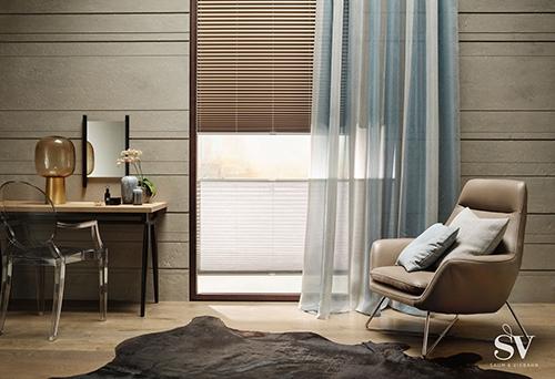 Fensterdekoration Jalousie braun - Raumausstattung Wallner