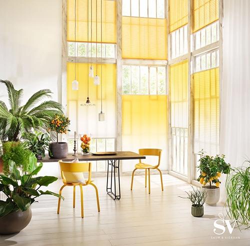 Sonnenschutz Jalousie gelb - Raumausstattung Wallner