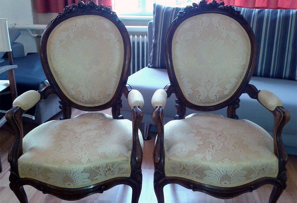 Restaurierung Stühle antik - Raumausstattung Wallner